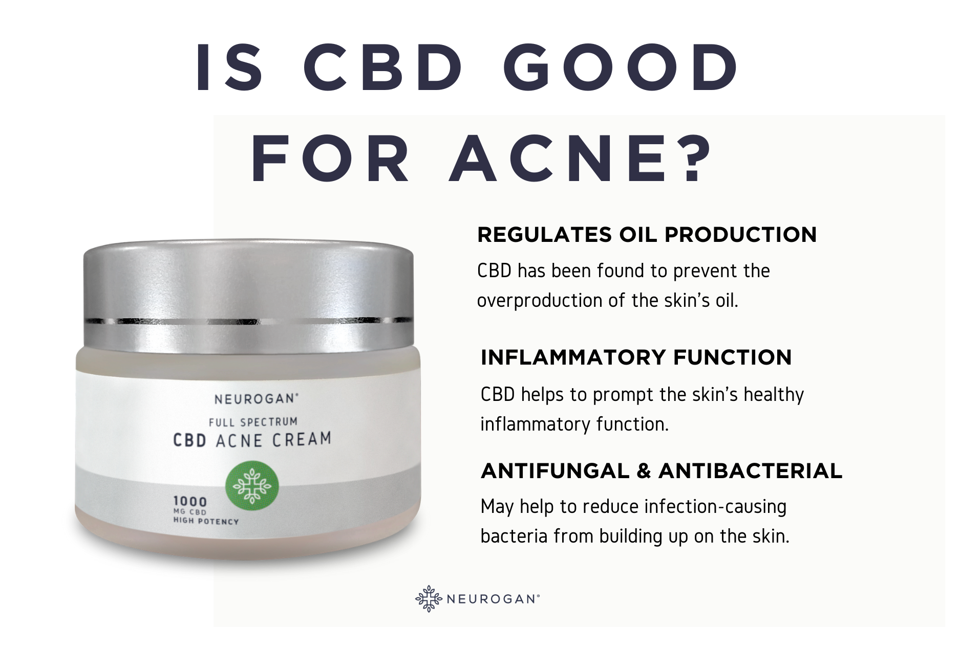 is cbd good for acne infographic