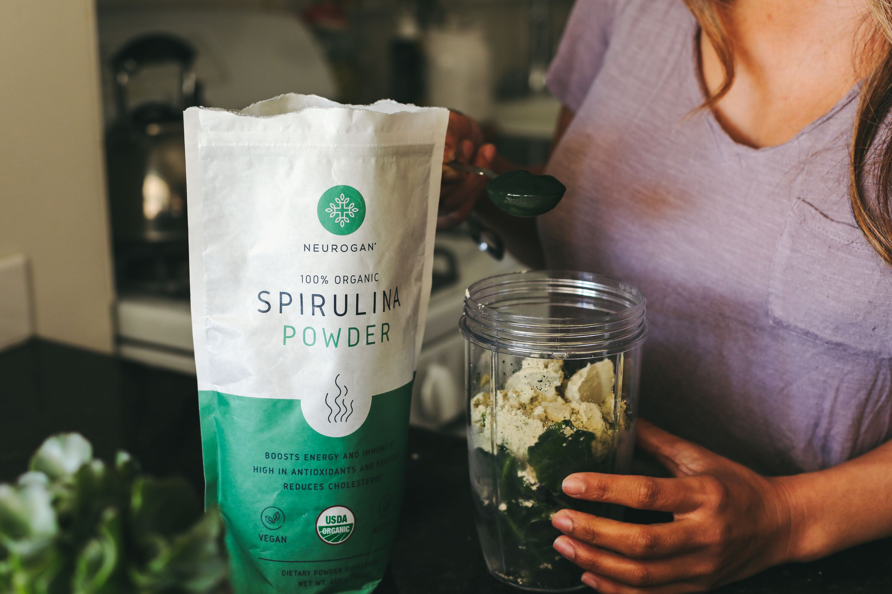 neurogan spirulina smoothie